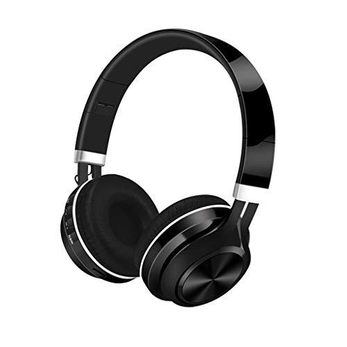Cocoty-store Auriculares Diadema Bluetooth Inalambricos, Cascos Bluetooth Inalambricos Plegable con Micrófono, 20hrs Reproducción de Música, Hi-Fi Sonido Estéreo para TV, PC, Móviles