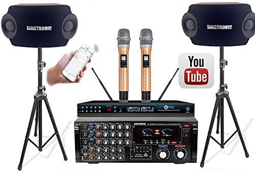 SINGTRONIC PROFESSIONAL 2000 WATTS COMPLETE KARAOKE SYSTEM PACKAGE FREE UNLIMITED YOUTUBE SONGS, BUILT IN USB, OPTICAL/COAX & BLUETOOTH FUNTION