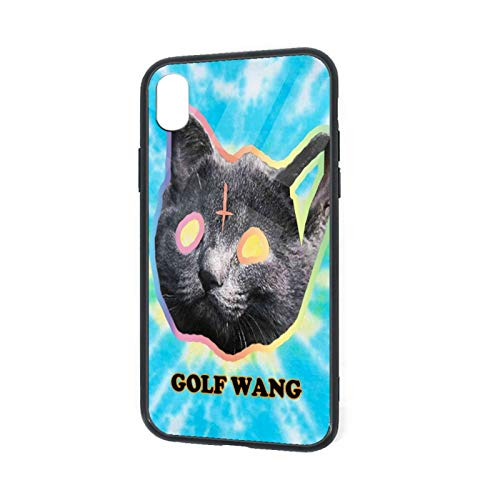 Hittoliy OFWGKTA Golf Wang Cat Tempered Glass iPhone XR Mobile Phone case, Non-Slip, Anti-Impact, Comprehensive Protection, Soft TPU Bumper Protective case, Suitable for iPhone XR 6.1 inches (2018)