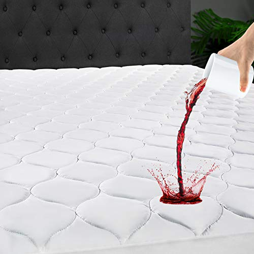 LANOITE King Waterproof Mattress Protector Pad Cover with...