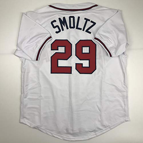 Unsigned John Smoltz Atlanta White Custom Stitched Baseball Jersey Size Men's XL New No Brands/Logos