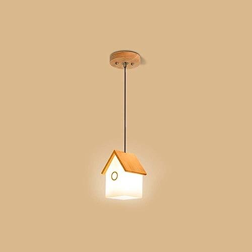 Lustres Modernes plafonniers Nordic Creative Art Chaleureux en Bois Salle d'enfant Salle à Manger Pendentif lumière,1head