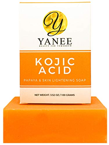 Papaya Soap Bar with Kojic Acid 3.52 oz - Orange Soap Bar Skin Gentle on Face and Body For Men Women