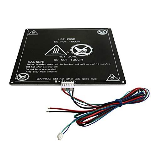 GEEKEN Aluminium Heizbett 12V Schwarz MK3 Hotbed MK2B & MK2A Druck Platte mit Dem Kabel für Mendel RepRap I3 3D Drucker HeiiEs Bett