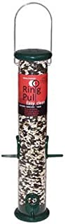 Droll Yankees RPS15G FBA_RPS15GMB Bird, Hanging Tube Sunflower Feeder, Easy Clean R, 15-Inch, Green