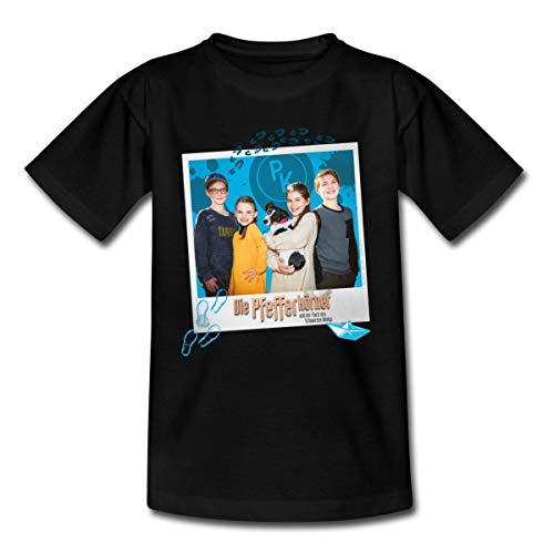 Pfefferkörner Johannes, Mia, Alice und Benny Teenager T-Shirt, 152-164, Schwarz