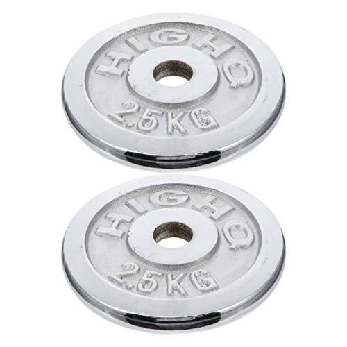 BESPORTBLE 2 Stück Langhantelplatten 2. 5 Kg Gewichtsplatte Krafttraining Griffplatte Fitnessgeräte Fitnessgeräte Gewichtsscheibe Zubehör