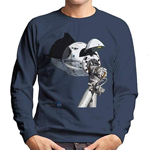 Nasa SpaceX Dragon Capsule at The ISS Men's Sweatshirt