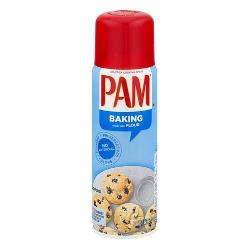 Pam Canola Oil Baking Spray with Flour (Pack of 4)