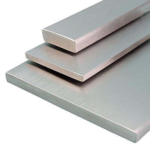 V2A Edelstahl Flachstahl Oberfläche geschliffen, Korn 240 Länge 1000 mm Abmessungen 30 x 5 mm