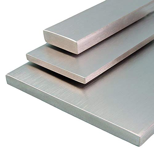 V2A Edelstahl Flachstahl Oberfläche geschliffen, Korn 240 Länge 500 mm Abmessungen 20 x 5 mm