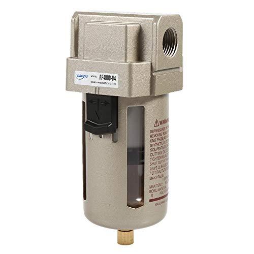 Zerodis Filtro de Aire Comprimido Regulador del Separador de Trampa de Humedad de Agua del compresor del Filtro de Aire de 1/2 \'\'