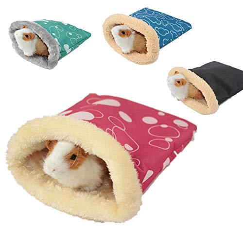 1PC Warm Hamster Schlafsack Bett Weiche Chinchilla Meerschweinchen Ratte EichhöRnchen Nest Kleintiere KäFig Kleintiere Schlafbedarf, ZufäLlige Farbe