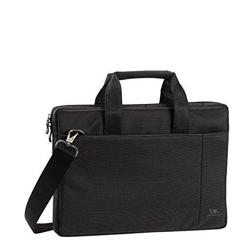 """RIVACASE Notebooktasche bis 13.3"""" – Moderne Tasche mit Zusatzfächern & extra verstärkten Seitenwänden – Schwarz"""