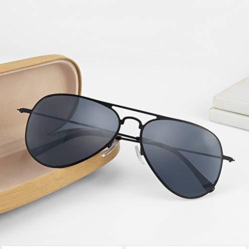 HQMGLASSES UV-Schutz Sonnenbrille, Retro Pilot Frame Single Focus HD Objektiv Outdoor-Lesebrille / UV400, geeignet zum Angeln/Fahren Dioptrie + 1,0- + 3,0,Schwarz,+ 2.0