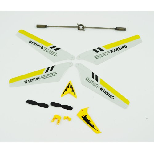 SYMA Full Replacement Parts Set for Syma S107 Rc Helicopter, Main Blades, Tail Decorations, Tail Props, Balance Bar, -Yellow Set
