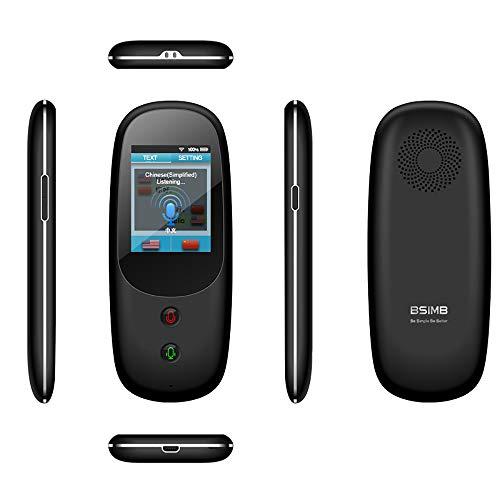 LZZ Smart Voice Übersetzer Device, Echtzeit-Zwei-Wege-Instant Offline-Sprachen, Übersetzer, WiFi 4G 2,4 Zoll Touchscreen, unterstützt 41Sprachen und Fotografieren Übersetzung