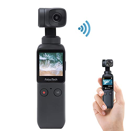 "3-Axis Pocket Gimbal Camera Stabilizer 4K HD 8X Slow Motion Smart Tracking Hyperlapse Motion Trail Time-Lapse Panoramic 1.3"" Touchscreen 1/1.25"" Attachable to Smartphone Video Vlog Feiyu Pocket Gimbal"