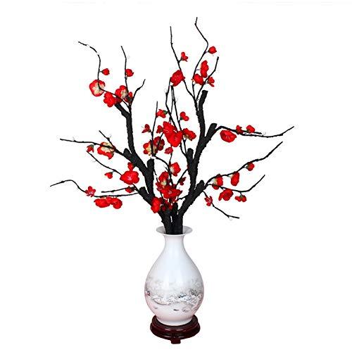 Kunstbloemen Simulatie pruim bloesemtak, pruim, nep bloem, Chinese decoratie, bloemenhuis, woonkamer, TV-kast display Bloem Producten inclusief: Decoratieve Kunstbloemen