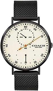 Coach | Men's Charles | Black Mesh Bracelet | White Dial 14602480