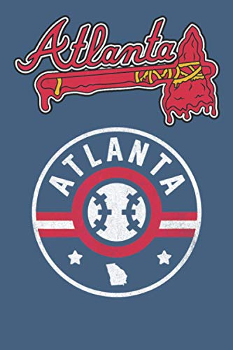 Atlanta: baseball training notebook 114 pages, high quality cover and (6 x 9) inches in size Funny Blank Lined Journal Coworker Notebook