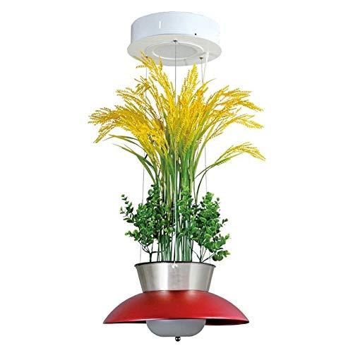 Binnen kroonluchter, plafondverlichting, planten, bloemen, LED-buizen, creatief, eenvoudig, persoonlijkheid, restaurant, kroonluchter van glas