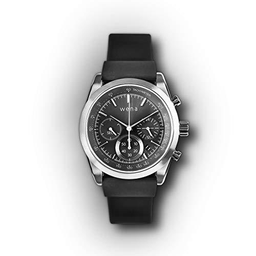 Wena Active by Sony Solar Chronograph Edition - Smart Watch met GPS en Optical Heart Beat Sensor, Contactloze betaling, Meldingen en Activiteit Tracking
