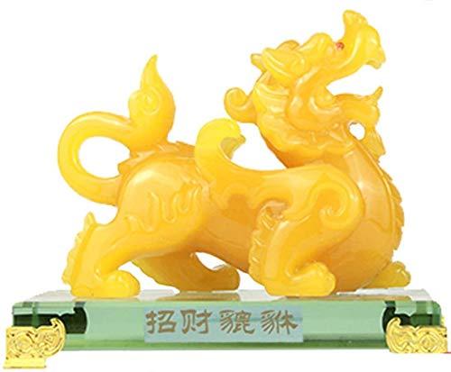 Resina como Estatua De Jade Pixiu, Símbolo De Decoración De Oficina En Casa para La Riqueza, Decoración De La Oficina En Casa, Interior Y También Un Buen Regalo