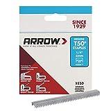 Arrow T50 - Caja de grapas (6 mm, 5000 unidades en 4 paquetes de 1250 unidades)
