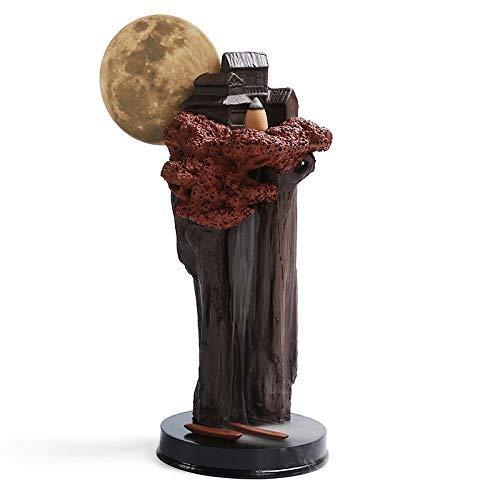Best Deals! Burner Incense Burner Ceramic Creative Round Moon Watching The Clouds Back Incense Burne...