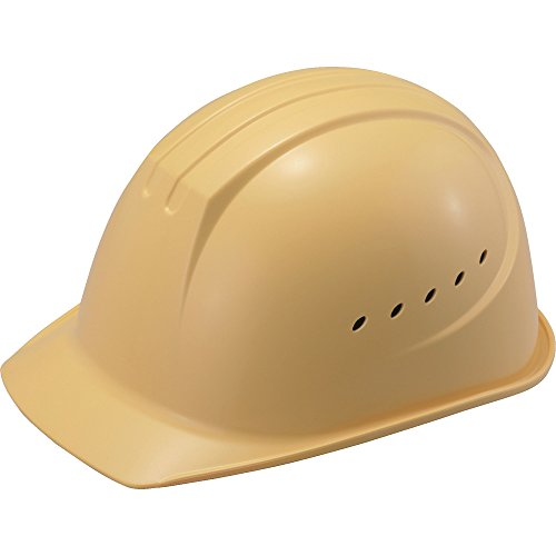 タニザワ エアライト搭載 溝付 通気孔付 クリーム 01610JZ-C3-Jつば付ヘルメット