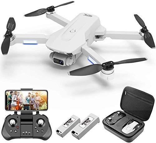 4DRC Dron F8 con cámara 4K UHD Drone GPS Plegable FPV RC con retorno automático a casa, modo retorno de casa, seguimiento, control gestal, 2 baterías para 40 minutos, vuelo y maletín de transporte