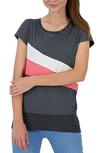alife & kickin Cleaak Camiseta, Marine, L para Mujer