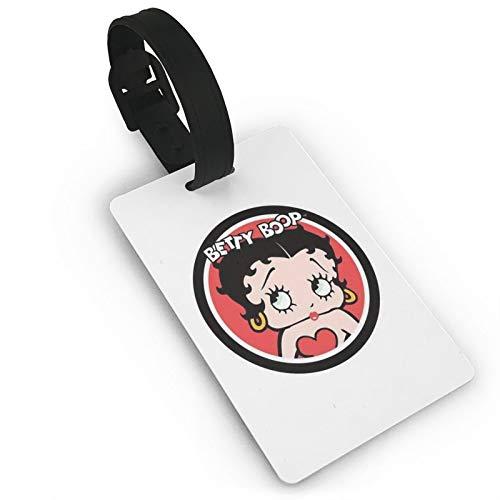 Be-tty Boop Etiquetas de equipaje de viaje de PVC para viajeros inteligentes, mejor para evitar la pérdida de bolsas y maletas
