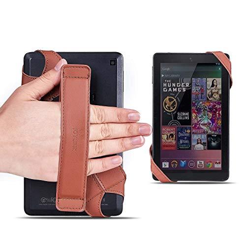 joylink - Correa de Mano para Tablet (360 Grados, con Correa elástica, Segura y portátil para Tablets de 6 a 7 Pulgadas), Color marrón