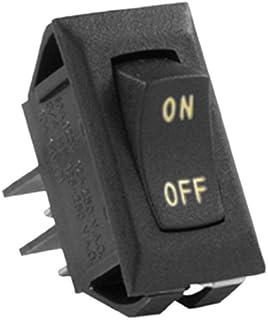 JR Products (12591-5 Black/Sliver 12V On/Off Switch, (Pack of 5)