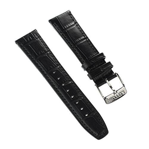 Lotus Correa para reloj de pulsera, de piel, color negro, para relojes Lotus L18223, L18222