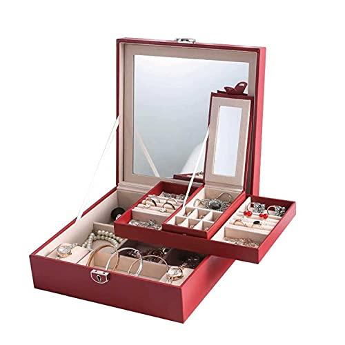 Adesign Reloj Box Watch Case Joyería Organizador Holder Caja de exhibición Caja Caja Cajón Gafas de sol Pendientes de almacenamiento Organizador de almacenamiento Lockable con cuero PU para hombres Mu