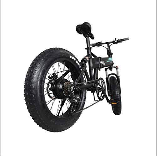 SHUAIGUO MTB Bicicleta eléctrica, Aumenta la Velocidad de la Bicicleta de montaña hasta 18,6 mph, 20 Adultos Pulgadas E-Bici Fat Tire 36V 250w 12.5Ah batería del Motor Amortiguador