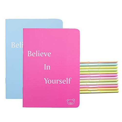 "Yansanido Pocket Notebooks Set (3.5""x5"")""Believe in Yourself"" 8 Colors Pocket Mini NoteBooks Mini Notepads (12)"