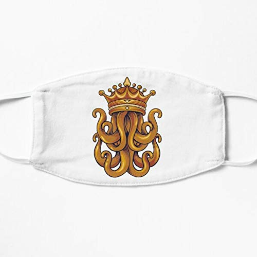 Kraken King With Crown Pirates Of The Caribbean Octopus Luxury Cloth Face Covering