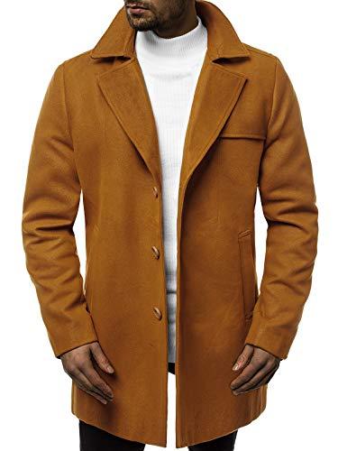 OZONEE herenmantel winterjas trenchcoat jas overgangsjas Coat Winter herfst lang warm kraag reverskraag elegant klassieke outdoor gevoerd 777/5681P