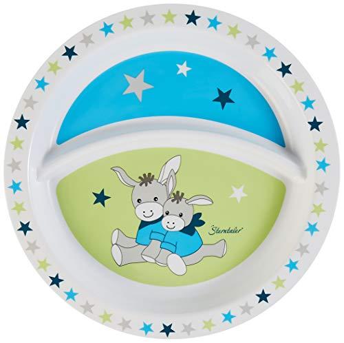 Sterntaler Assiette Bébé, de l'âne Erik, Âge: Pour les bébés à partir de 6 mois, Bleu/Vert
