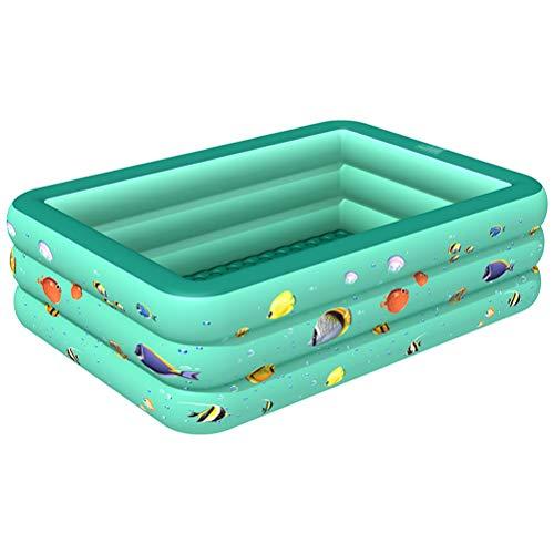 Piscina para Niños, Inflable Portable Rectangular Bebé De Los Niños De Baño De Hidromasaje Piscina Al Aire Libre De Interior para El Hogar,300cm
