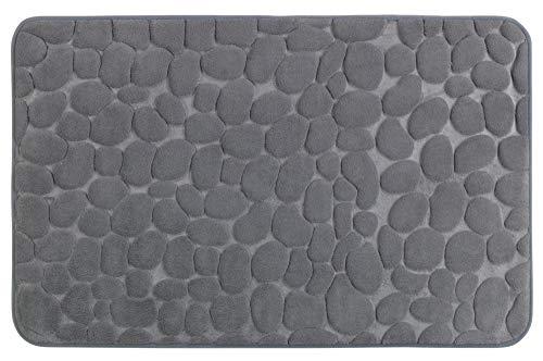 WENKO Badteppich Memory Foam Pebbles Grau