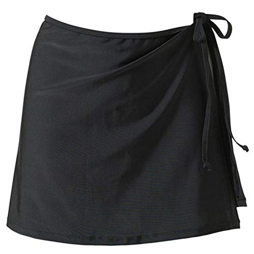 Frauen Strand Bikini Bluse Einfarbig Chiffon Wickelrock Mullbinde Kurzes Minikleid Frauen Beachwear