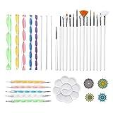 yotijar 33pcs Mandala Dotting Rock Kit de Herramientas de Pintura Dot Art Pen
