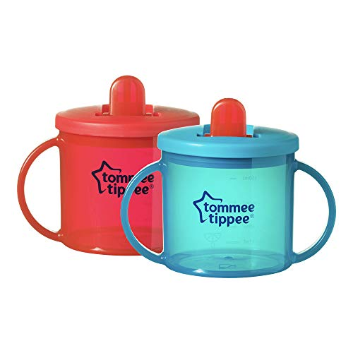 Tommee Tippee Free Flow, prima tazza, rosso e turchese, 190 ml