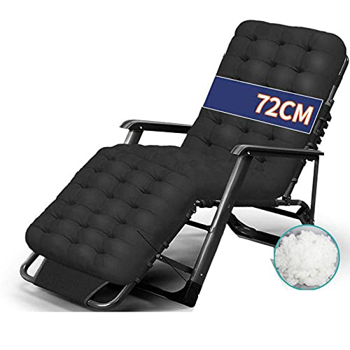 WGFGXQ Garden Patio Recliner,Zero Gravity Chair with Adjustable Headrest, Oversized Recliner Chair, Reclinable Folding Chair for Outdoors Bedroom, Padded Patio Chair-3