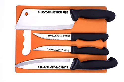 BLUECORP® ENTERPRISE Stainless Steel Kitchen Knives Set,Standard Kitchen Knife/Vegetable Knife/PARING Knife, 4 Piece Set